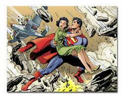 superman saving woman